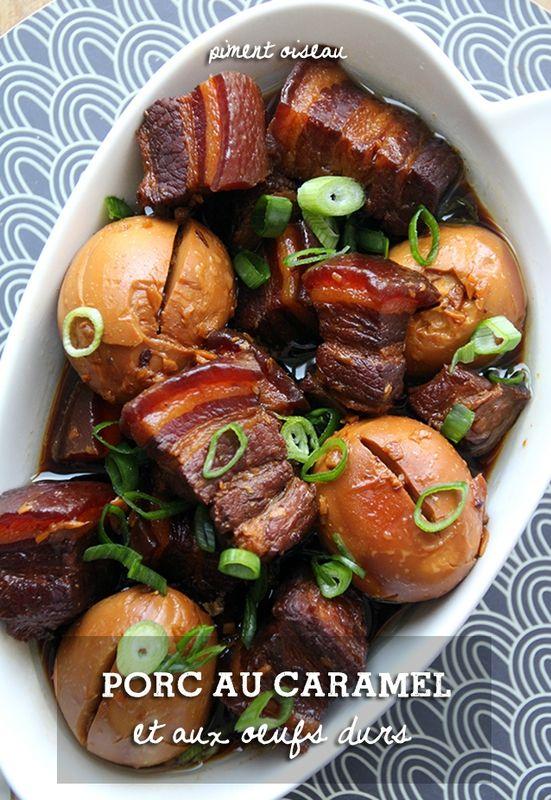 Porc au caramel et aux oeufs durs - Vietnamese caramelized pork with hard boiled eggs