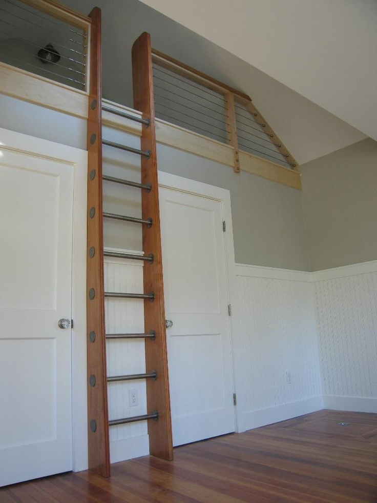 S- idea for ladder next to bathroom door