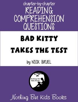 Simple reading comprehension questions for Bad Kitty Takes the Test