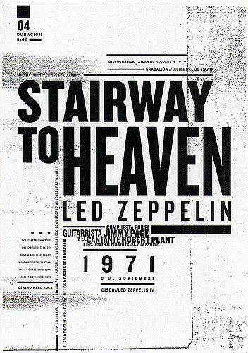 """""""Stairway to Heaven"""" es una canción del grupo de rock británico Led Zeppelin, compuesta por el guitarrista Jimmy Page y el cantante Robert Plant e incluida en el cuarto trabajo de estudio de la banda, Led Zeppelin IV. Está considerada por muchos como uno de los puntos culminantes de la historia del rock."""