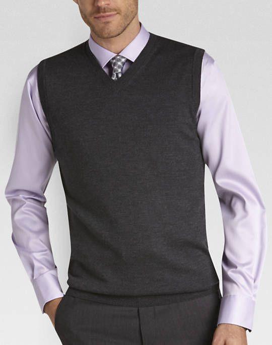 Joseph Abboud Charcoal Modern Fit Vest