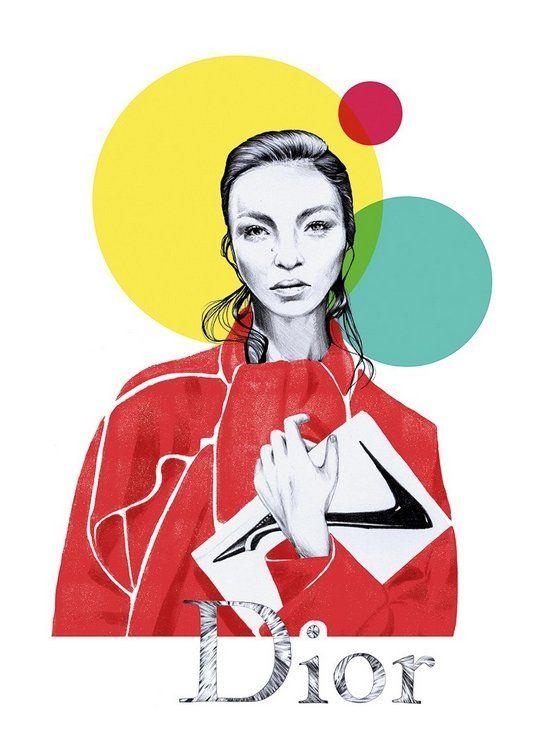 """Plakat """"Dior"""" od Eweliny Dymek."""