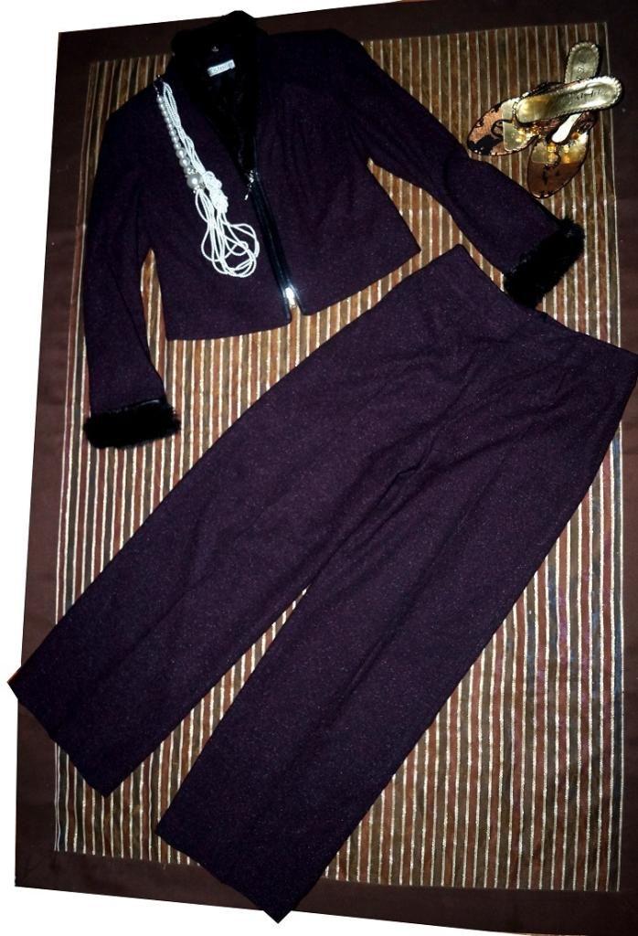LUKSUSOWY garnitur SPODNIUM WEŁNA skóra 40-42 (5048799564) - Allegro.pl - Więcej niż aukcje.
