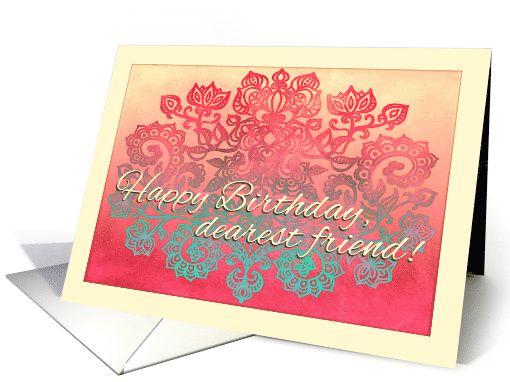 Happy Birthday, dearest friend! Ombre coral, cream