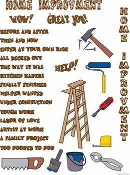 Home Renovation Improvement Clip Art - info on paying for home improvements - topgovernmentgrants.com