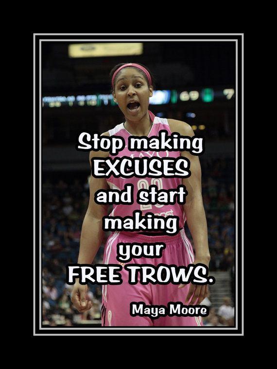Maya Moore Minnesota Lynx Basketball Poster by ArleyArtEmporium