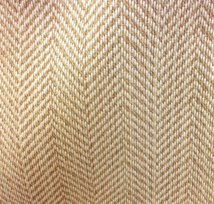 Posh Fennel Sunbrella Woven Herringbone Outdoor Fabric