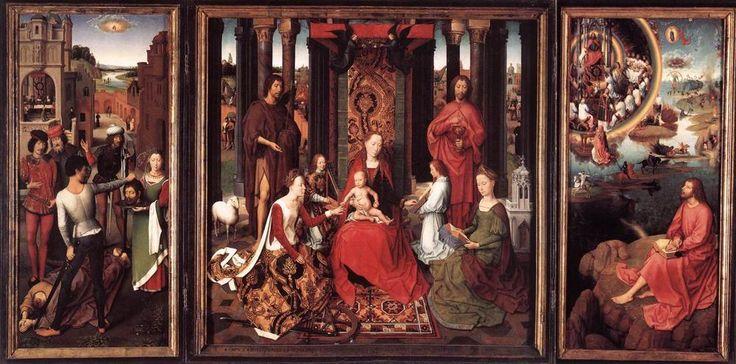 Hans Memling: Trittico di San Giovanni, 1474-1479, olio su tavola, Hans Menmlingmuseum, Bruges | Pearltrees
