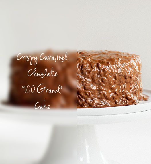 "Crispy Caramel Chocolate ""100 GRAND"" Cake {Recipe & Tutorial}: Cakes Marci, Chocolates Cakes, Cakes Danger, Cakes Series, Cakes Recipes, Cakes Laying, Caramel Cakes, Cakes Sweets Pi, Cakes Yup"