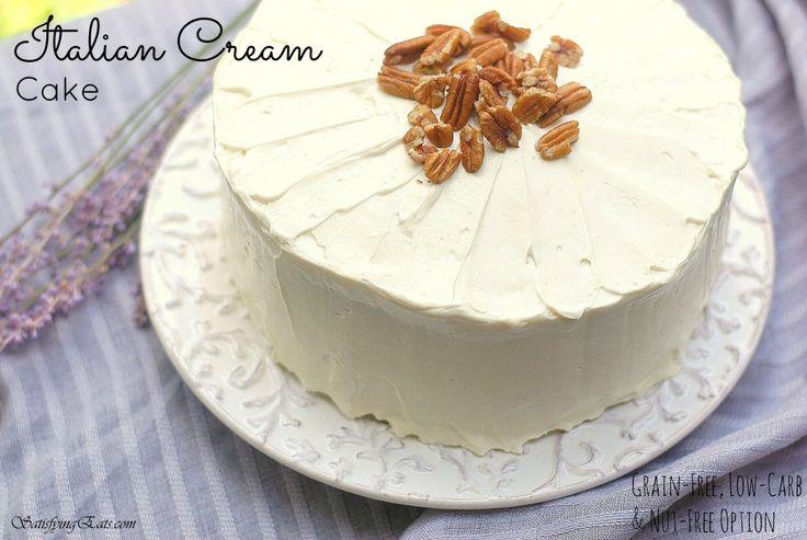 Paleo Italian Creme Layer Cake