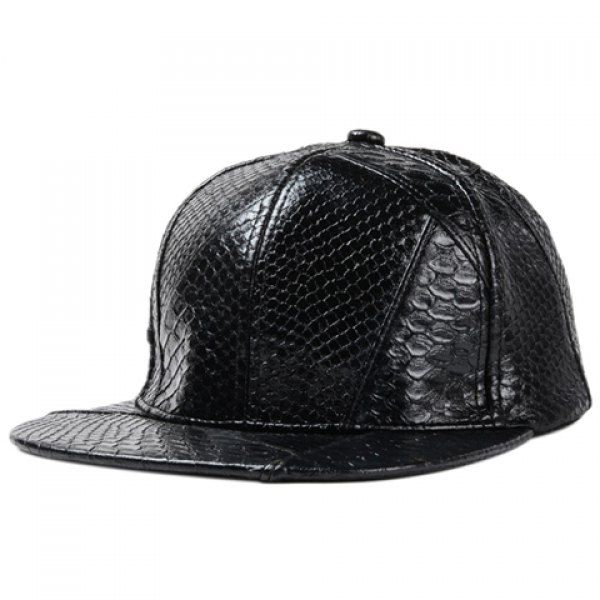 Stylish Solid Color Snakeskin Shape PU Baseball Cap For Men #women, #men, #hats, #watches, #belts, #fashion, #style