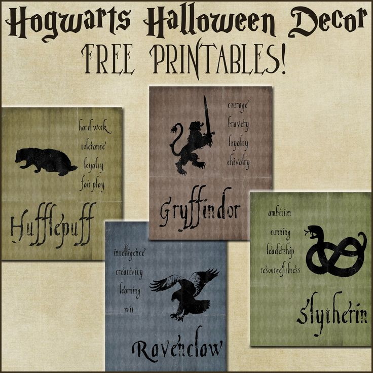 Halloween Decor: Harry Potter House Posters {free printables}