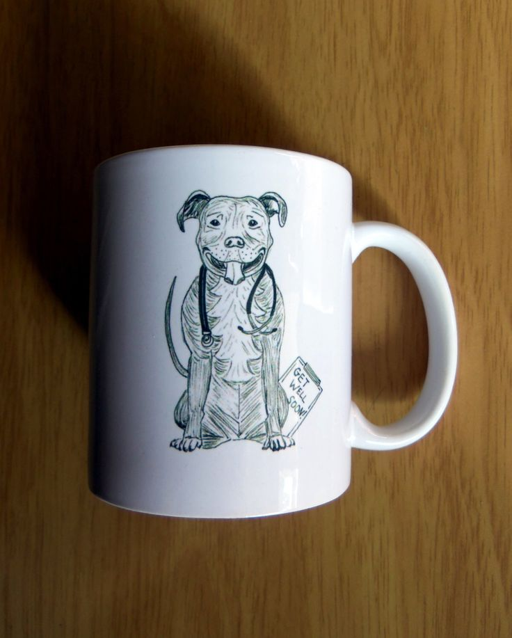 Pit Bull Terrier Dog Doctor/Veterinarian Mug by itllglowonyou on Etsy https://www.etsy.com/listing/221569688/pit-bull-terrier-dog-doctorveterinarian