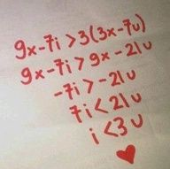 Math love things <3 cheesy but adorable! I want to give this to someone, but I don't love anyone who loves math that much...time to meet some people!