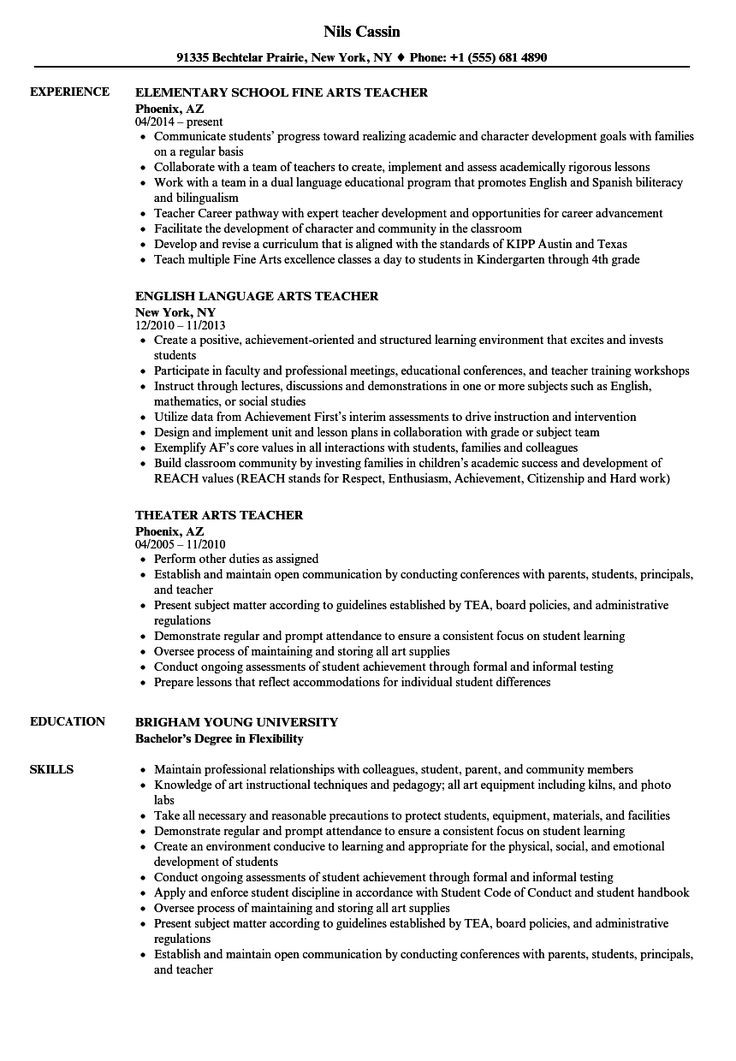 Teacher Resume Examples in 2020 Teacher resume examples