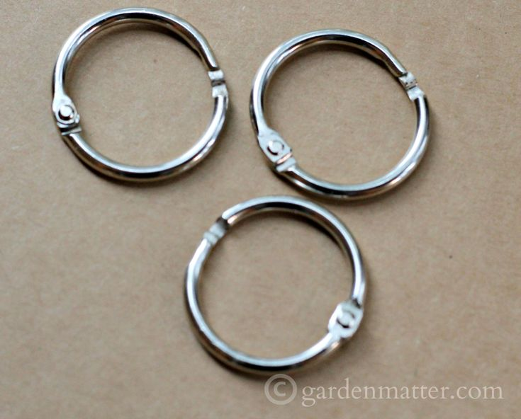 binder-rings ~ make your own rain chain ~ gardenmatter.com