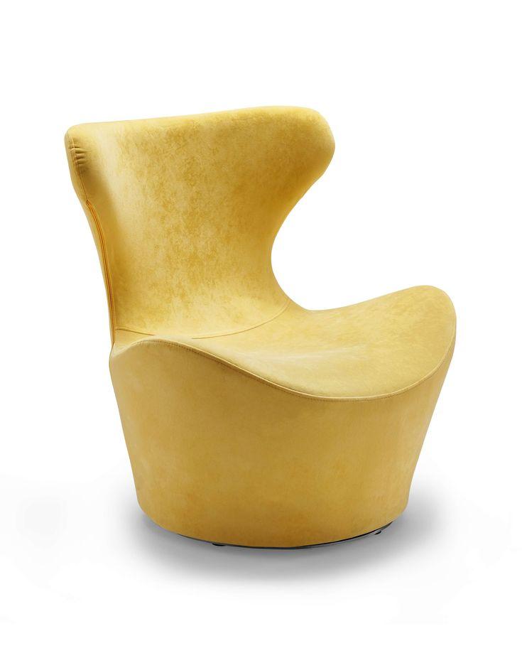 Madison   Swivel Accent Chair Yellow