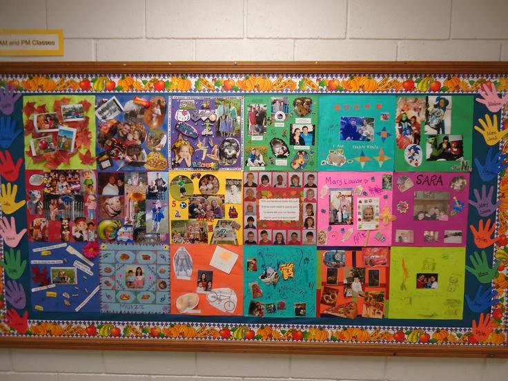 Novemeber Bulletin Board Family Quilt Pre K Art 2012