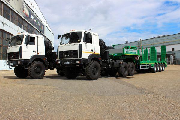 Off-road semitrailers Tverstroymash. Model 99394H-54E. Полуприцепы Тверьстроймаш повышенной проходимости.