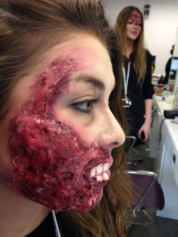 My first Halloween make-up practice using latex and gelatin to ...