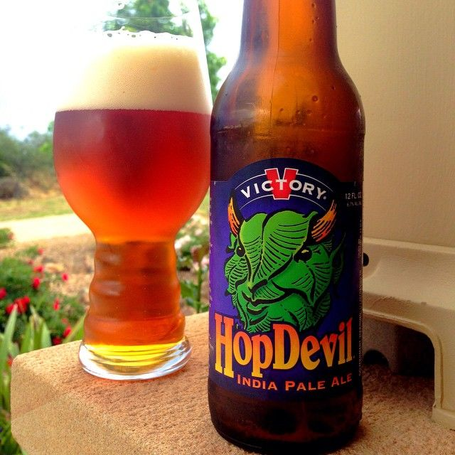 Victory HopDevil IPA & the IPA glass from @the_thirsty_hop