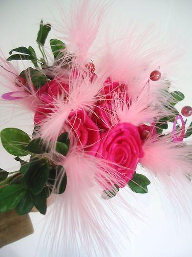 BOUQUET ROSE DEMOISELLE DHONNEUR fleurs artificielles mariage