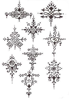 Bonitos diseños de tatuajes de henna