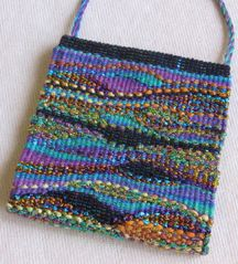 woven beaded tapestry bag.