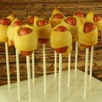 """Pigs in a Blanket"" Pops in a KC Bakes Stand :) Fun post by @Goodies For Gifts!"