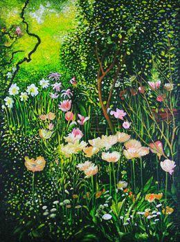 Spring Tulip Flowers  by simon-knott-fine-artist at zippi.co.uk
