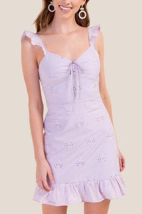 d0f5b8bc5368 francesca's Shelby Cherry Eyelet Sheath Dress - Lavender | Products in 2019  | Dresses, Sheath dress, Everyday dresses