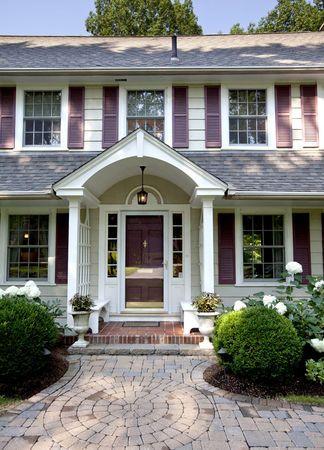 walkway, entrance. Western Mass. House Tour: Dutch Colonial Revival in Longmeadow - Photo Gallery - masslive.com