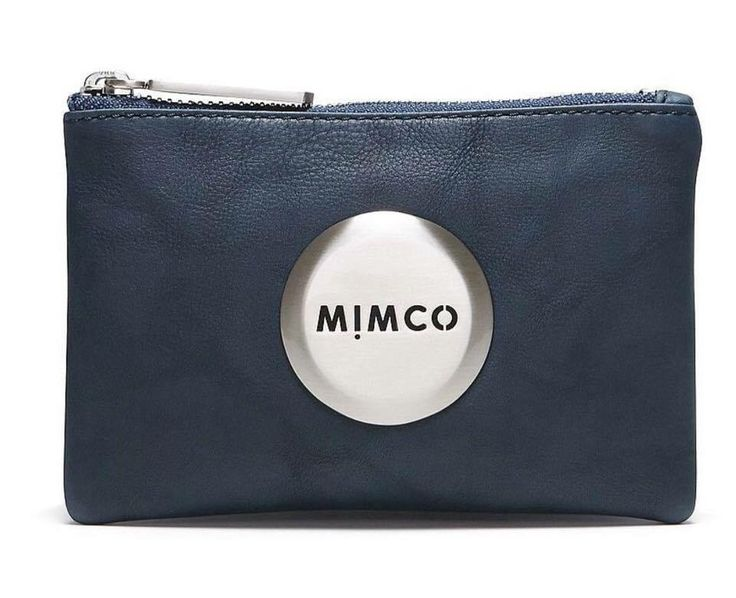 Mimco small pouch in denim/navy