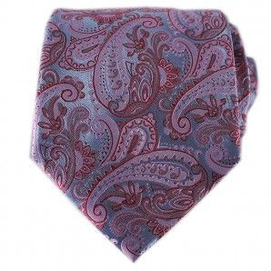 Red Paisley Neckties / Formal Business - Wedding Neckties