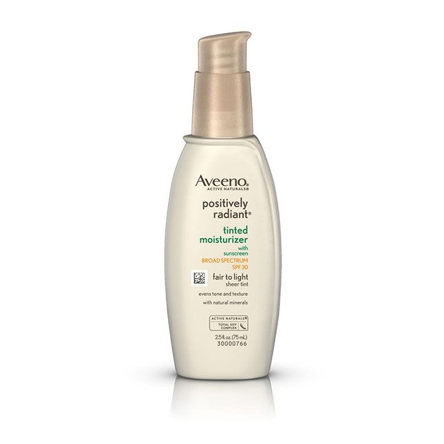 Aveeno Positively Radiant Tinted Moisturizer SPF 30 | How to Copy Kylie Jenner's Beauty Routine With ALL Drugstore Products via Brit + Co
