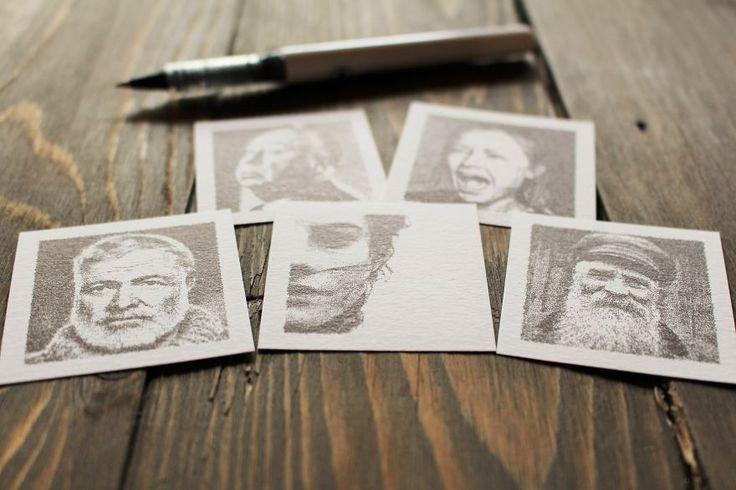 Tiny Portraits Drawn By A Robot