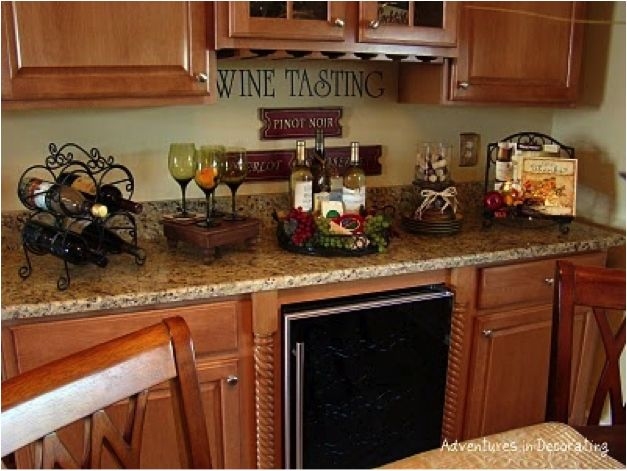 wine decor for kitchen decorating your kitchen with a wine bottle theme - Themes For Kitchens Decor