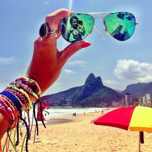 selfies creativas Que salgas en tus gafas.