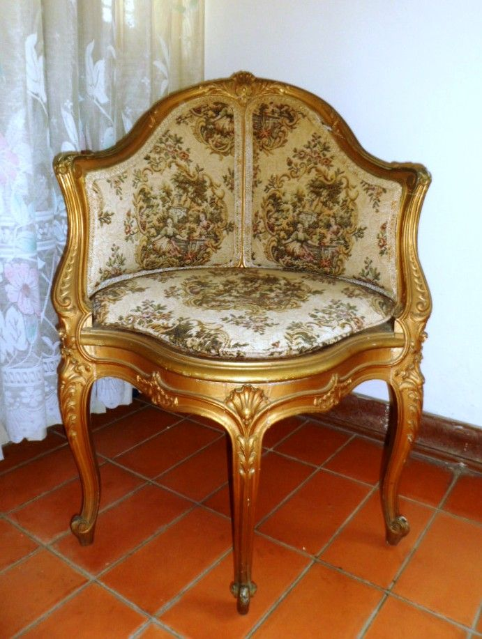 Antique corner chair gold england stuff i like pinterest for 80s furniture for sale