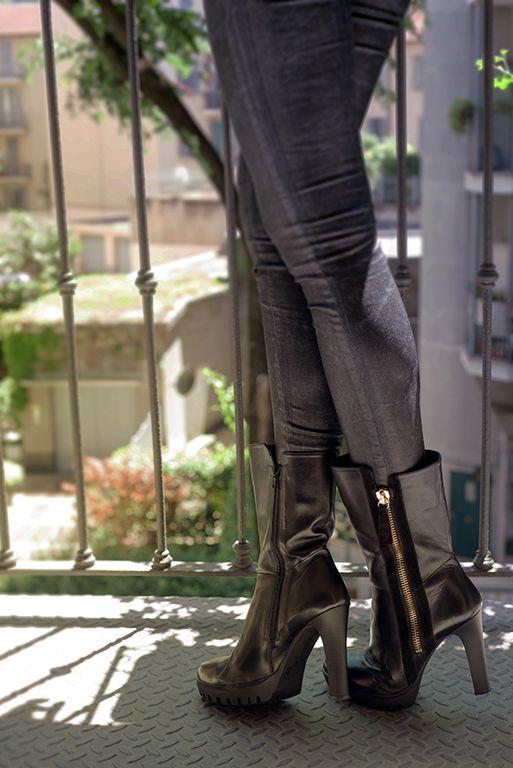 #fashion #black #leather #boots by #carmenspadova