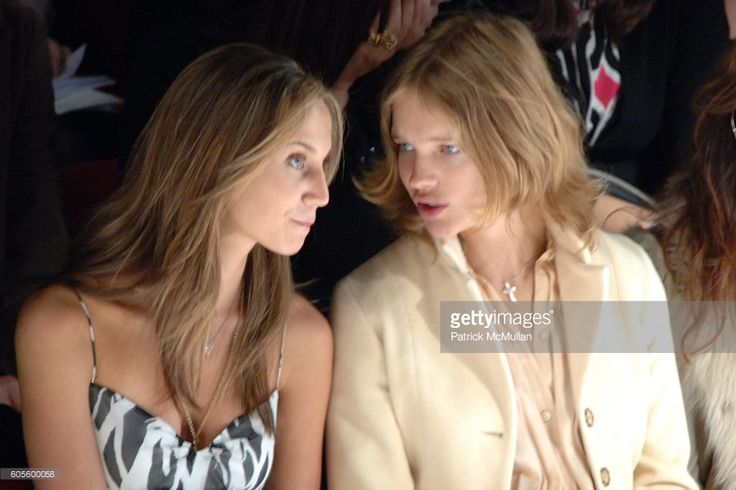 Ali Kay and Natalia Vodianova attend Diane von Furstenberg Fall 2006 Fashion Show Front Row at The Tent at Bryant Park on February 5, 2006 in New York.