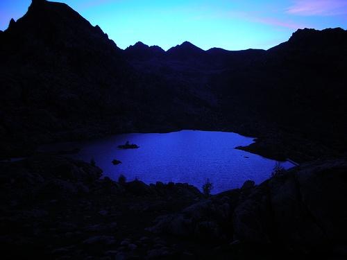 Blue sunset on hike in Parc National de Mercantour France
