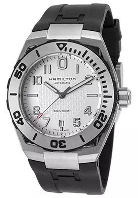 65% Off Hamilton Men's Khaki Navy Automatic Black Rubber Silver-Tone Dial Watch