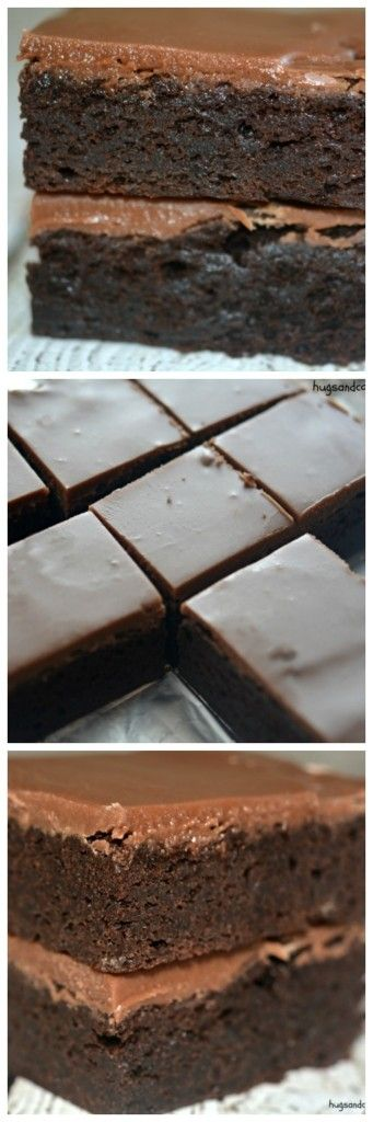 Fudgy Bakery Brownies - Hugs and Cookies XOXO