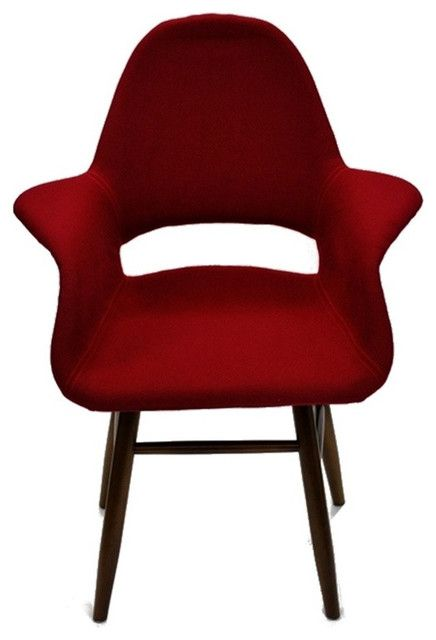 Red Mid Century Modern Fabric Dining Chair POPULAR DINING ROOM CHAIRS DESIGN, BEAUTIFUL DINING ROOM DECORATING IDEAS