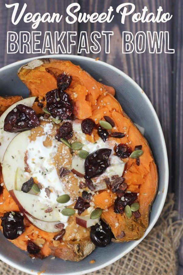 I share my recipe for Vegan Sweet Potato Breakfast Bowl, an easy gluten free, pa…