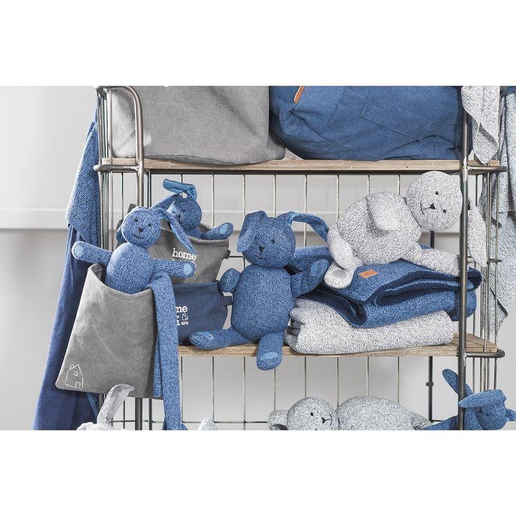 Peluche géante lapin Stonewashed bleu marine (62 cm)