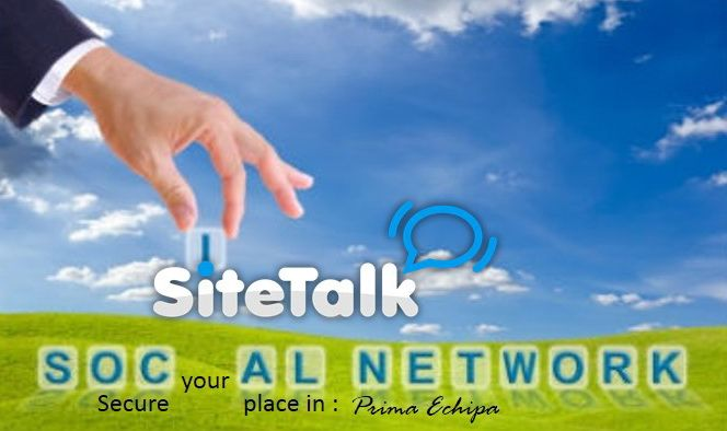 Secure your place in PrimaEchipa SiteTalk !