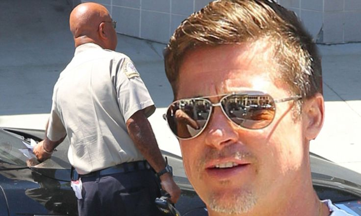Brad Pitt gets parking ticket at the Fahey/Klein Gallery in LA #DailyMail