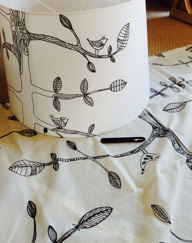 lampenschirm bemalen selfmade pinterest schirm lampen und basteln. Black Bedroom Furniture Sets. Home Design Ideas